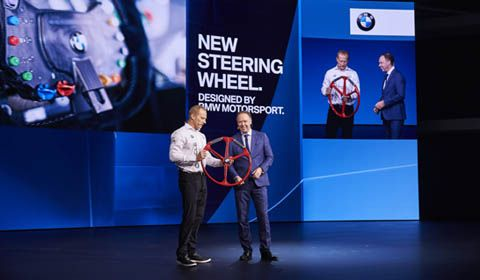Jimmy Spithill and BMW reveal America's Cup Class steering wheel