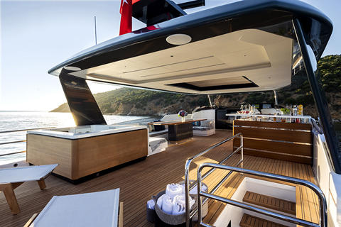 Sirena 88 World debut at the 2019 Cannes Yachting Festival