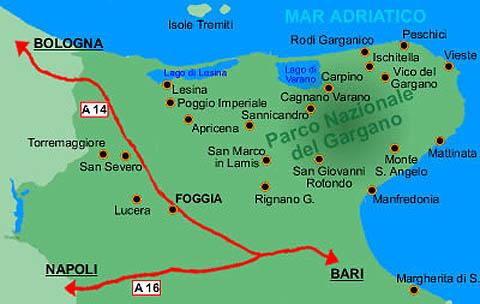 Cartina Puglia Zona Gargano.Il Promontorio Del Gargano Fg Turismo E Ormeggi Nautica Report
