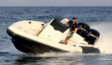 Technohull SV909 double duty as stylish tender and high performance RIB
