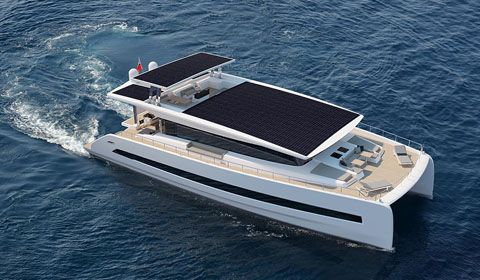 First stylish solar powered Silent 79 catamaran under construction in Italy