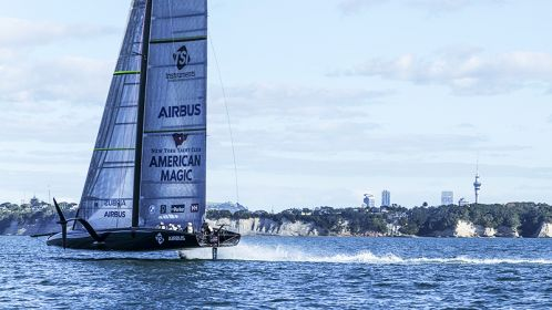 American Magic - The first sail on the Waitematā