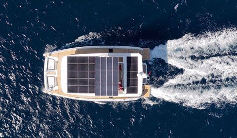 Silent 55 solar panels set green new trends in modern yachting