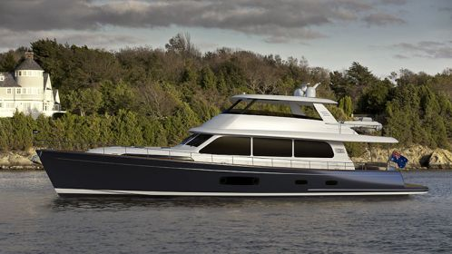 Grand Banks 85 hull #1 already sold. The largest yacht Grand Banks has built to date