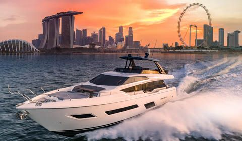 Ferretti Group: Star del Singapore Yacht Show
