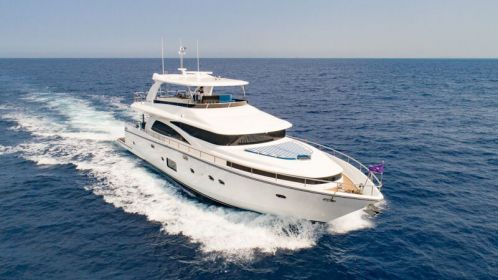 Johnson 80 the entry level superyacht mixing cruising performances and interior style