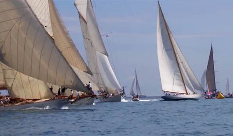 Les Voiles d'Antibes: 80 vintage beauties gather in France to get the 14th Panerai Classic Yachts Challenge underway