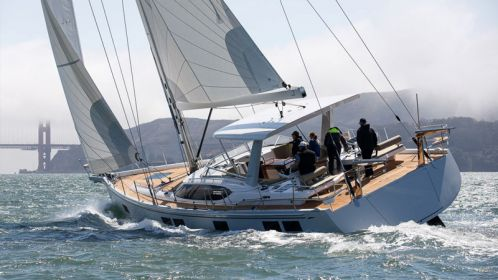 The all-new Hylas H57 performance cruiser debuts on San Francisco Bay