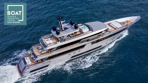 Riva 50 metri sul gradino più alto ai Boat International Design & Innovation Awards 2020