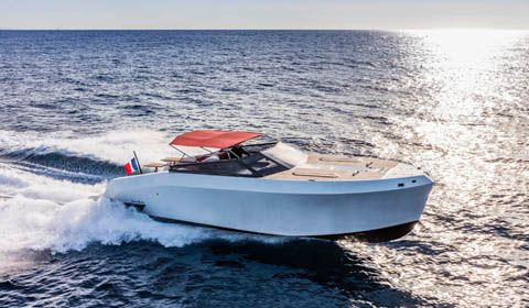 Stylish Mazu Yachts 38 Open White Pearl ready to debut at Boot Dusseldorf 2018