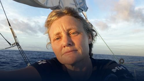 Vendée Globe - Pip Hare has climbed her mast to repair her anemometer... 'It is still game on!