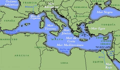 Mare Mediterraneo Cartina.La Formazione Del Mediterraneo Report Nautica Report